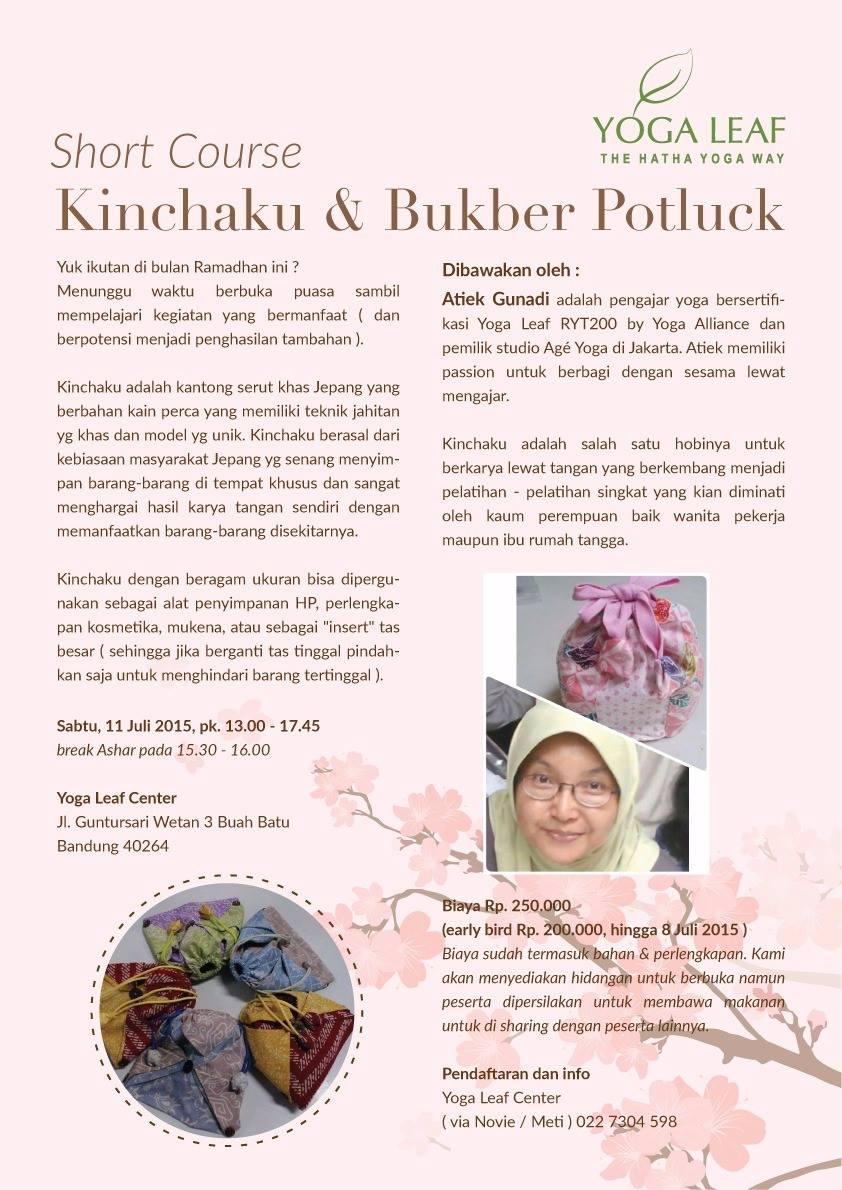 Short Course Kinchaku & Bukber Potluck