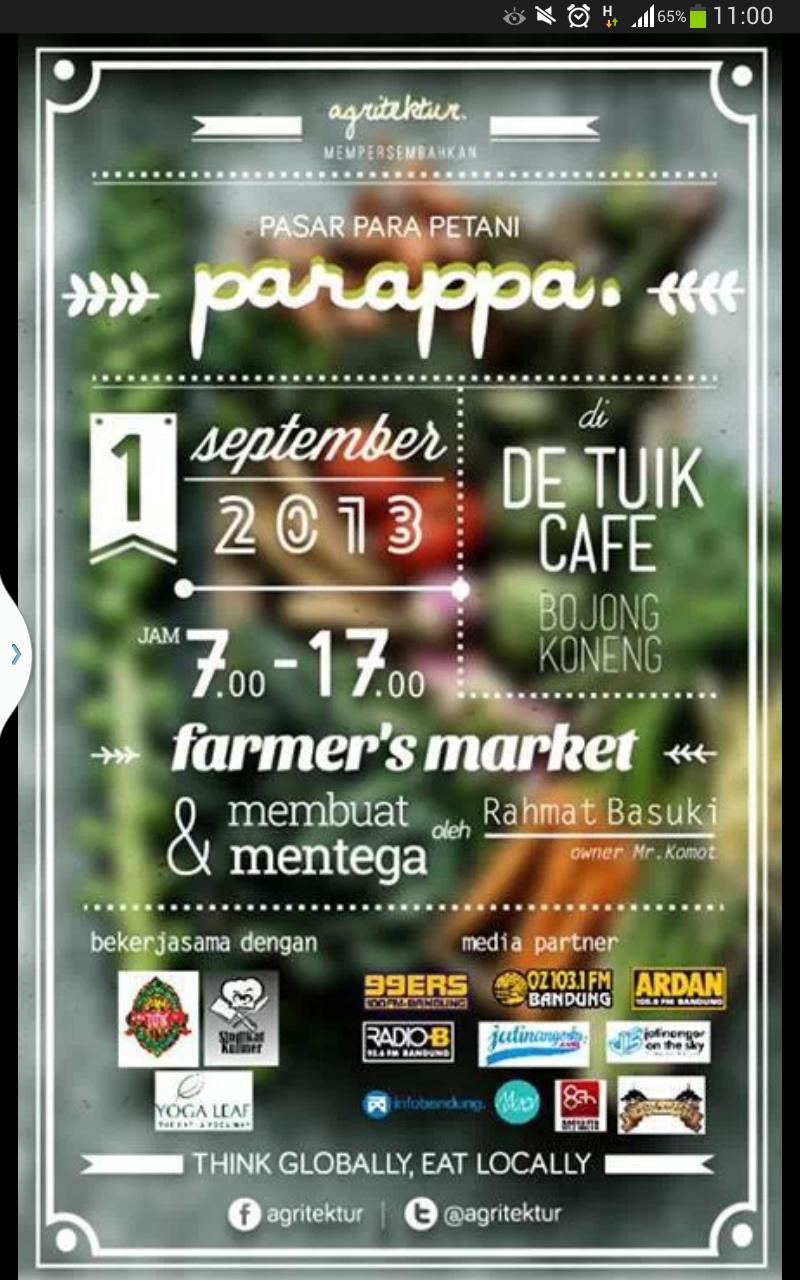 Yoga Pagi Bersama Yoga Leaf di Parappa – Pasar Para Petani – Agritektur
