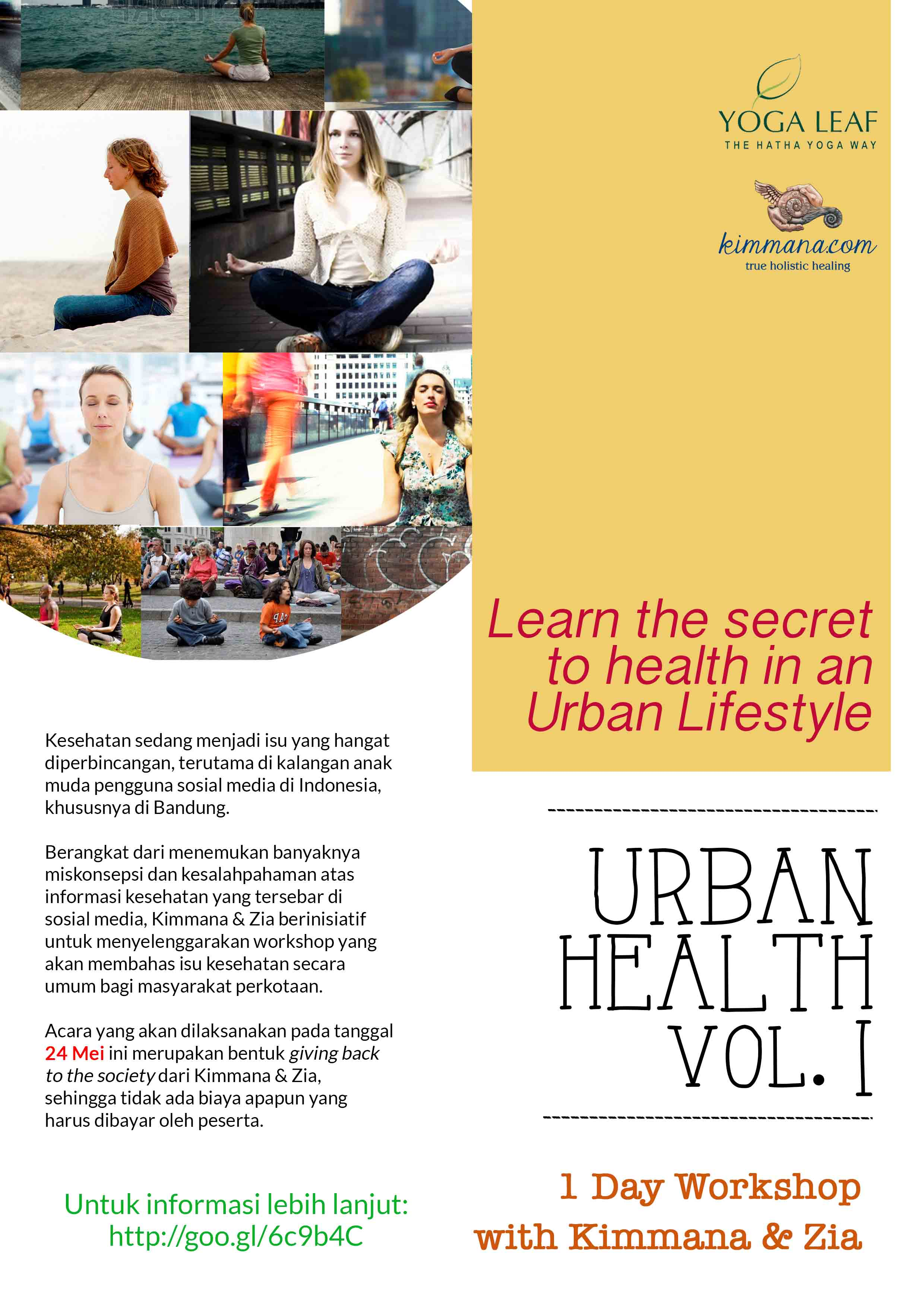 Urban Health Vol.1 – One Day Workshop by Kimmana & Zia