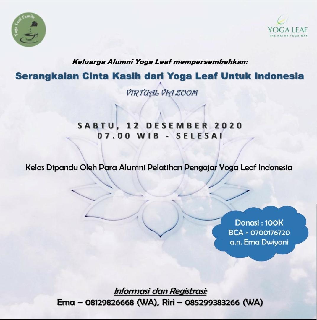 Virtual Yoga Fest: Serangkaian Cinta Kasih Dari Yoga Leaf Untuk Indonesia