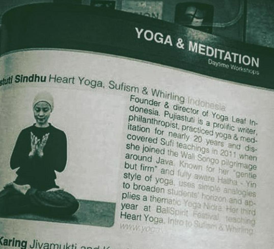 Yoga Sufi di Bali Spirit Festival 2016 & 2018